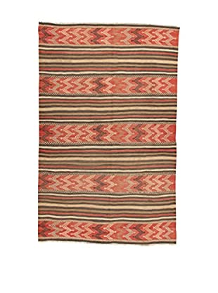 Design Community By Loomier Teppich Kilim Caucasico rot/lehmbraun 137 x 230 cm