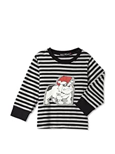 miniMONSTER Baby Boy's Bulldog Long Sleeve Tee (Stripe)