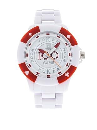 Light Time Reloj Poker Blanco / Rojo