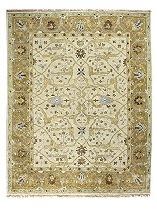 Bashian Rugs Hand-Knotted Indo-Oushak Rug, Ivory/Gold, 6' x 9'