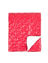 Tadpoles Quilted Nylon Puffer Baby Blanket, Red