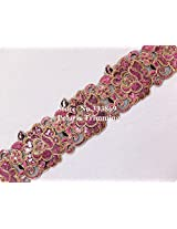 Light Purplish Red Flower Embroidery Sequins Laces Trims for Dance Dresses,Gowns,Garment Accessories