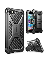 iPhone SE Case, i-Blason Prime [Kickstand] **Heavy Duty** [Dual Layer] Combo Holster Cover case with [Locking Belt Swivel Clip] for Apple iPhone SE 2016 Release (Black)
