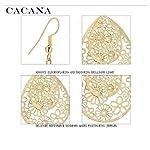 Designer light weight hanging earrings in golden color