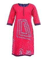 Artinic Womens Cotton Kurti (Artk0025_Pink)