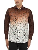 King Richard Men's Casual Shirt (AYK30_44, Light Brown, 44)