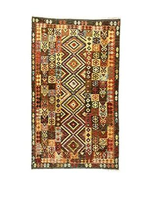 L'Eden del Tappeto Teppich Kilim P braun/mehrfarbig 261t x t136 cm