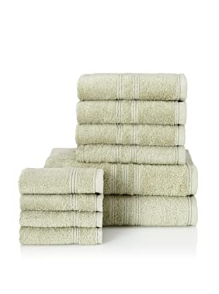 Chortex 10-Piece Imperial Bath Towel Set, Sage