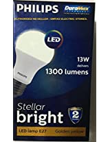 PHILIPS LED 13W DELIVERS 1300 LUMENS STELLAR BRIGHT LED LAMP E27 GOLDEN YELLOW / WARM WHITE / 3000K. [DURA MAX TECHNOLOGY LONG LASTING BRIGHTNESS] [WARRANTY 2 YEARS] [ALL AROUND LIGHT] [PACK OF ONE]