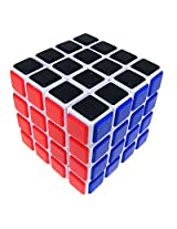Lanlan 6.5cm 4x4x4 Speed Cube Puzzle With Plastic Tile - White