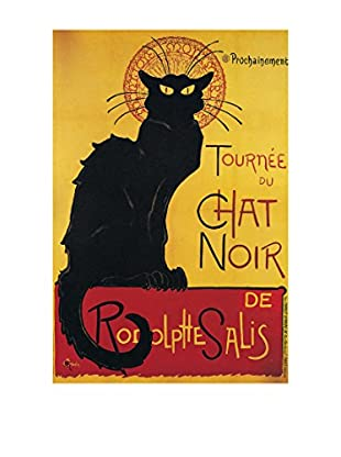 Artopweb Panel Decorativo Steinlen Chat Noir 60x90 cm Multicolor