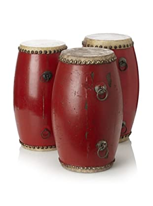 Set of 3 Small Red Drums