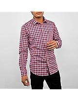 Allen Solly Red Cotton Men Shirt AMSF314G04716