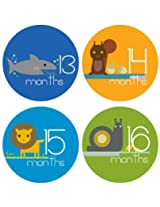 Lucy Darling Shop Monthly Baby Stickers Baby Boy Zoo Animals Months 13 24