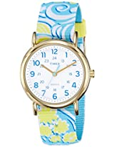 Timex Weekender Reversible Floral Analog White Dial Women's Watch - TW2P90100AA
