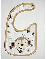 Carter's Smiling monkey Baby Bib (Unisex)