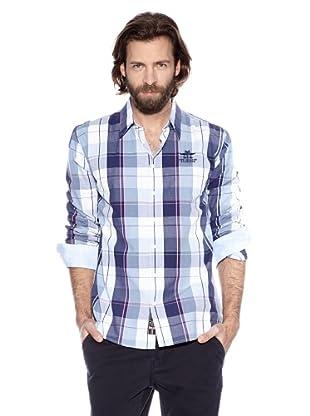 NZA New Zealand Auckland Camisa Básica Quersoneso (Marino / Blanco)