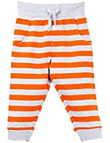 Infant Boys Fleece Striper Track Pant, Multi Colour (0-6 Months)