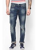 Blue Regular Fit Jeans (508)