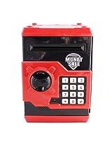 Money Safe Password Coin Piggy Kiddy Savings Bank (Black)
