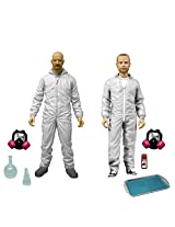 Mezco Toyz Breaking Bad: Walter White & Jesse Pinkman in White Hazmat Suits Action Figure