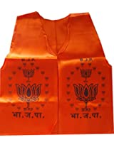 BJP Political Party Silk Orange Color Printed Jacket by Sheela Ad Makers