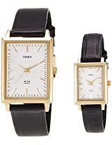 Timex Classics Analog White Dial Couple Watch-PR140