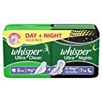 Whisper Ultra Clean Day and Night Pack (15 Pads)