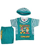 Boogie Woogie Bowo-7640-B Boy's Cotton Top & Bottom Set - (Blue)
