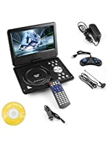 9.8 3D DVD Player Portable EVD with USB Playback TFT Swivel Flip Screen Game + MP3 + Card Reader Support + 3D Support