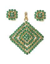 Gorgeous Artificial Earrings & Pendant Set-US2690