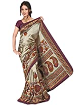 Kothari Printed Saree (KT0099MA_Beige Brown)