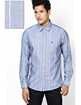 Blue Custom Casual Casual Shirt Allen Solly