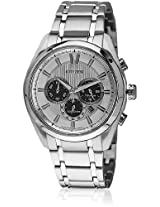 Ca4011-55A Silver/White Chronograph Watch CITIZEN