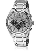 Ca4011-55A Silver/White Chronograph Watch CITIZEN