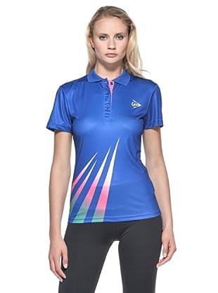 Dunlop Abbigliamento Ladies - Polo (Blu/Rosa)