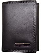 Geoffrey Beene Men's Credit Card Trifold Black One Size