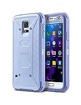 ULAK [KNOX ARMOR] Rugged Dual Layer Hybrid Protective Case For Samsung Galaxy S5 i9600 (Purple)