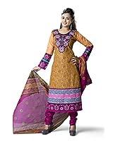 Rajnandini Women's Multi Colour colour pure cotton Printed Unstitched salwar suit Dress Material (Free Size)