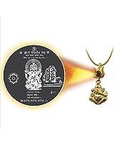 Dijyo Divine Darshan Gold Plated Ganeshji Siddhivinayak Pendant For Unisex
