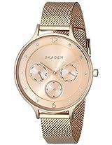 Skagen Anita Chronograph Gold Dial Women's Watch -SKW2314