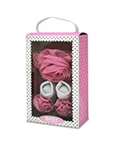 Baby Essentials Girls Bow And Sock Set - Pink Roselle