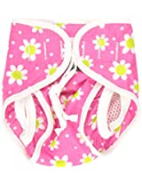 Kushies Baby Unisex Swim Diaper, Small, Fuchsia Daisy Print, Small