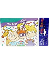 Rugrats Birthday Thank You Cards & Envelopes (8 Count)