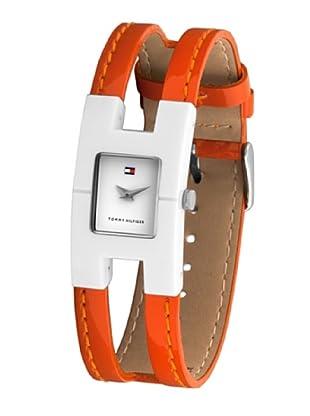 Tommy Hilfiger 1780904 - Reloj de Señora movimiento de quarzo, correa de piel color naranja