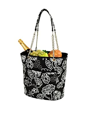 Picnic at Ascot Insulated Cooler Tote with Chain Handle, Night Bloom