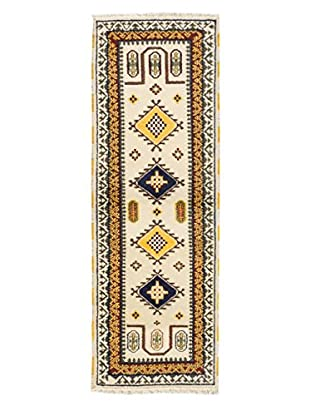 Hand-Knotted Royal Kazak Rug, Cream, 2' 9
