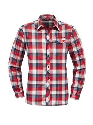 VAUDE Camisa Hemd (Azul/Rojo)