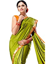Sudarshan Crepe 100% Pure Mysore Traditional Silk Saree (SSSB12_Green)