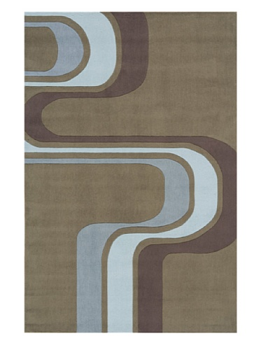 Lil Mo Swerve Rug (Army Green)